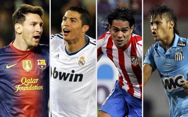 Los 10 mejores jugadores de fútbol 2012