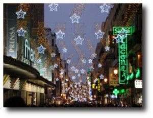 2. Mirar las luces de navidad