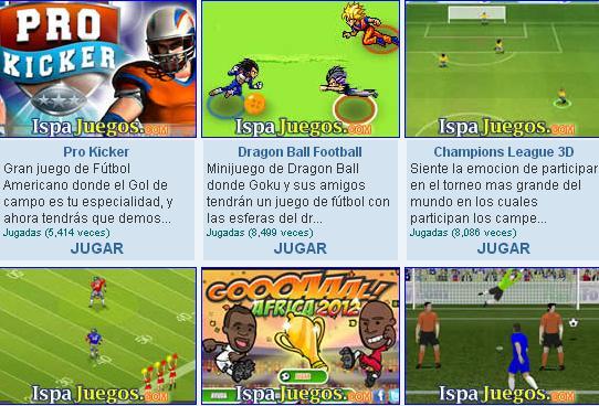muchos juegos gratis de futbol: