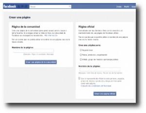 2. Crear una p+ígina en Facebook