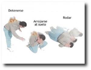 10. Detenerse, tirarse al suelo y rodar