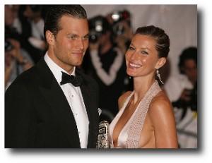 3. Tom Brady y Gisele Bundchen