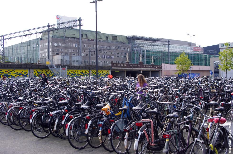 La primera rotonda aérea del mundo para bicicletas Eindhoven