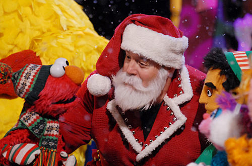 BIG BIRD, ELMO, KEVIN JAMES, STILLER THE ELF