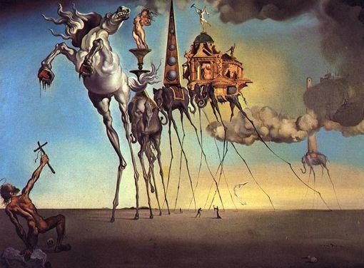 La tentación de San Antonio de Dalí