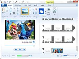 1. Windows Movie Maker 2012
