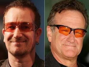 8. Robin Williams y Bono