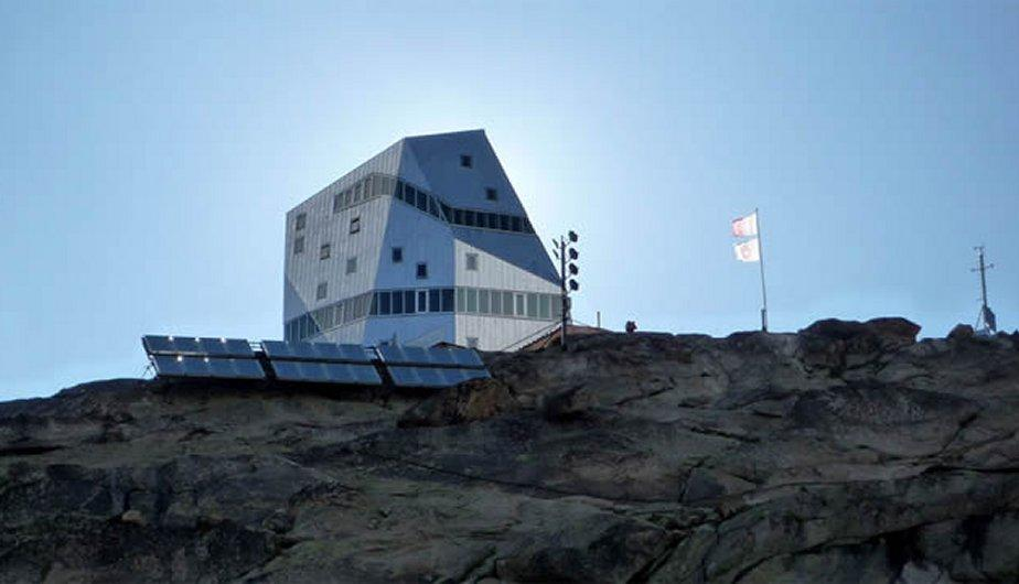 El refugio Monte Rosa