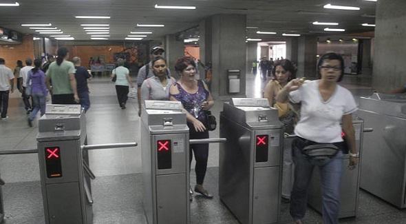 Torniquetes del metro