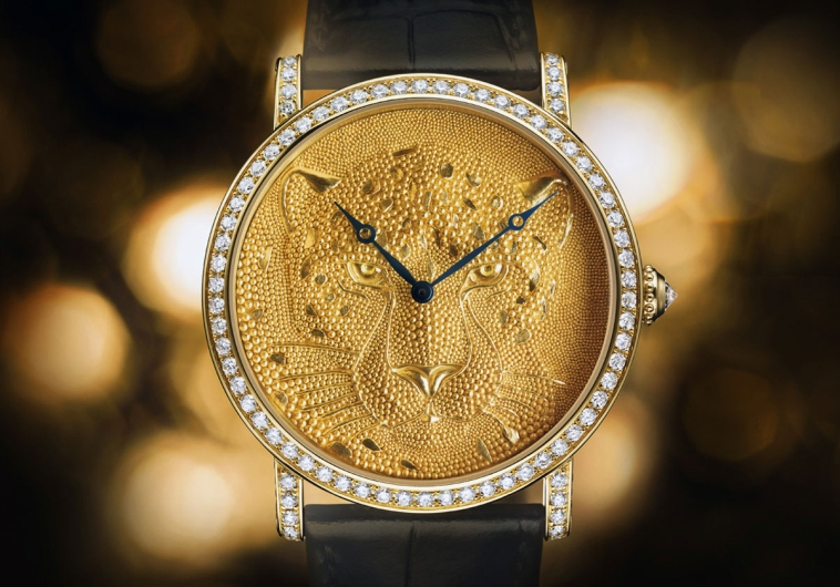 Cartier's Rotonde de Cartier: Panther with Granulation