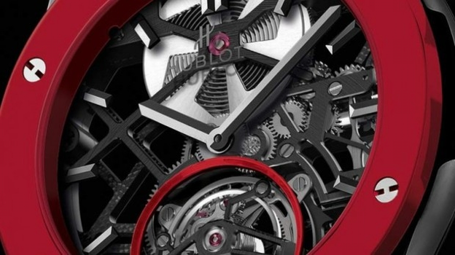 Hublot Red 'n' Black Skeleton Tourbillon