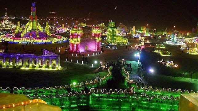 La ciudad de hielo de Harbin