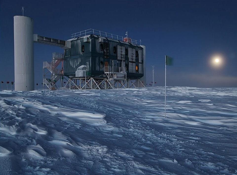 Los neutrinos intergalácticos del Polo Sur