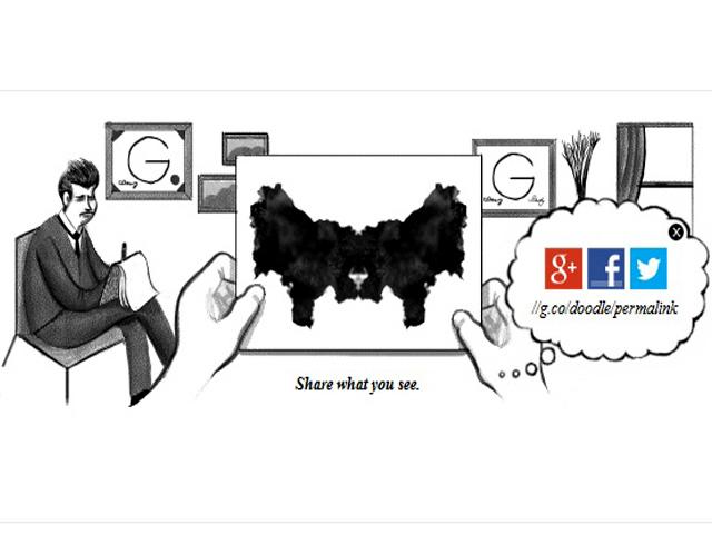 cumpleaños número 129 del psicólogo suizo Hermann Rorschach